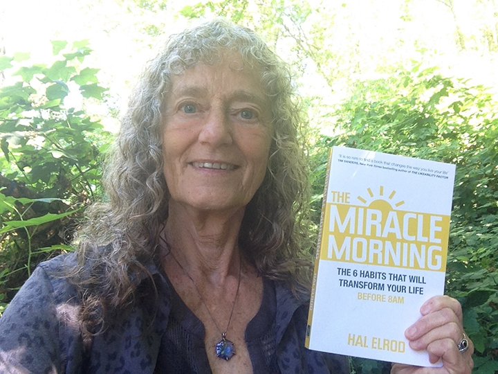 Dudley Evenson and her new favorite book The Miracle Morning