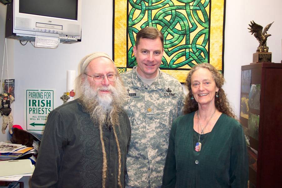 PTSD helped by peaceful music. Dean and Dudley Evenson with Walter Reed Chaplain John Kallerson
