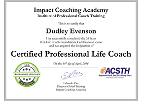 Dudley Evenson Certified Life Coach