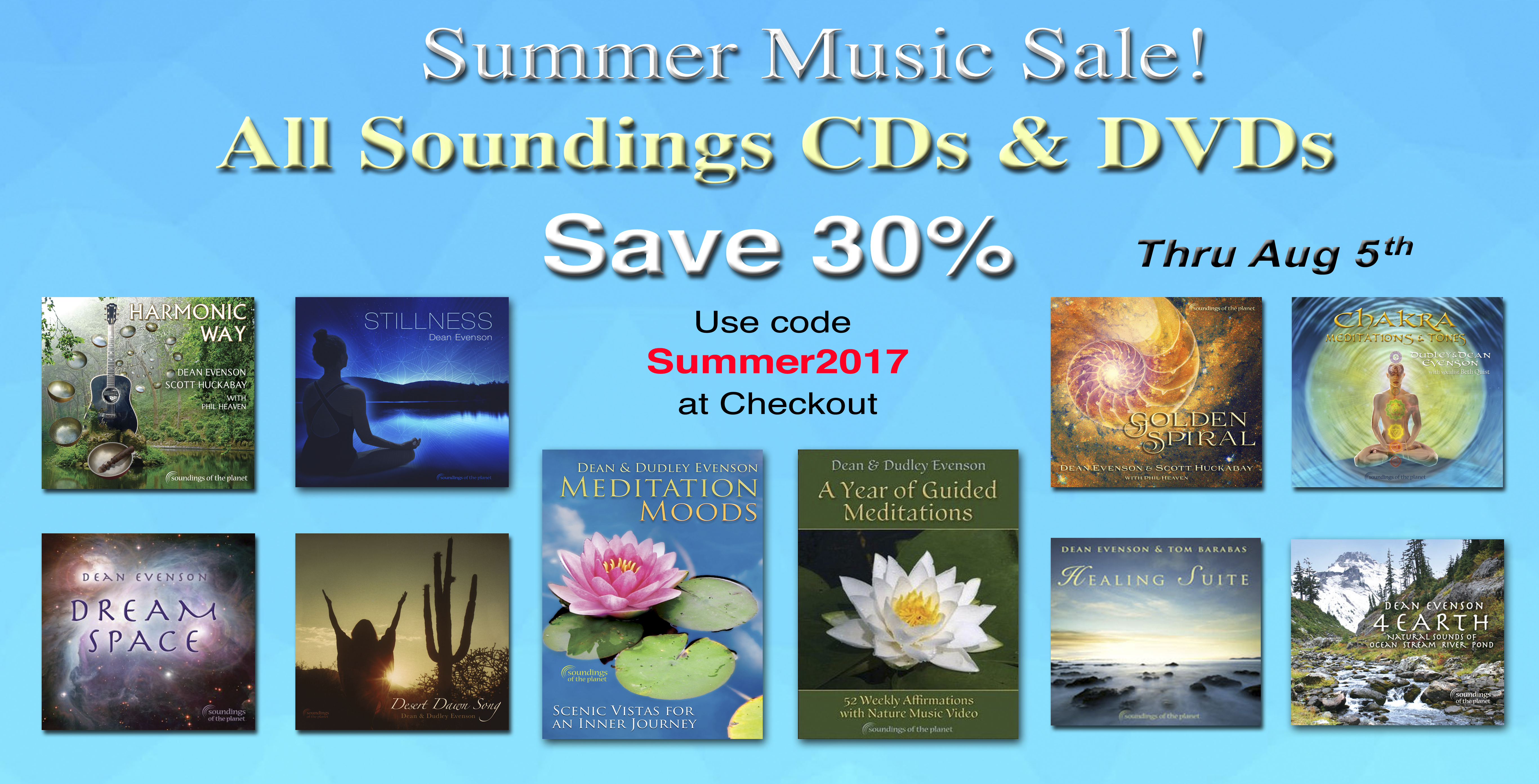 Summer Music Sale 2017edited 2 Soundings Of The Planet