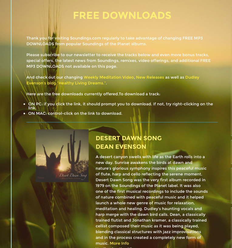 free downloads - Soundings of the Planet: Instrumental New