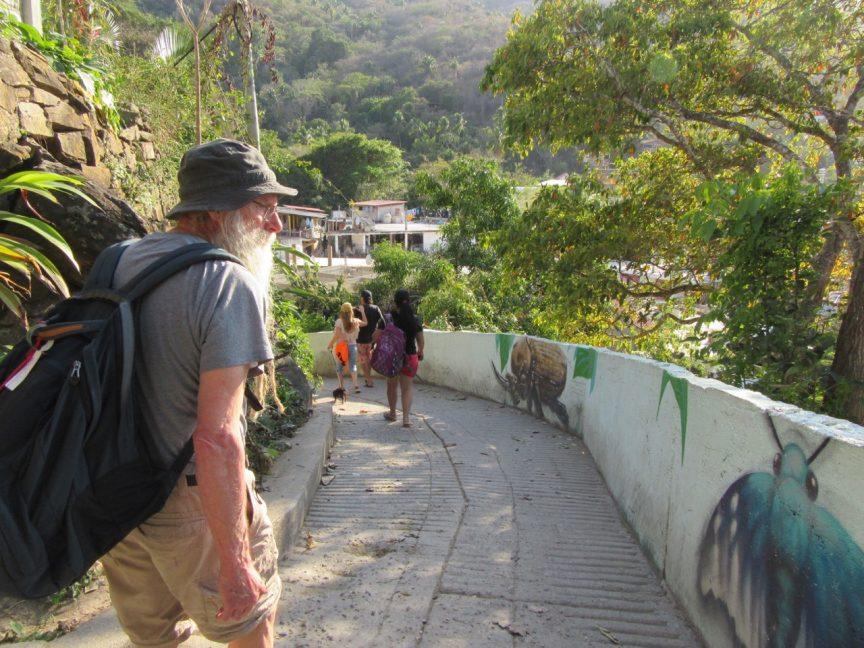 Walking in an eco village